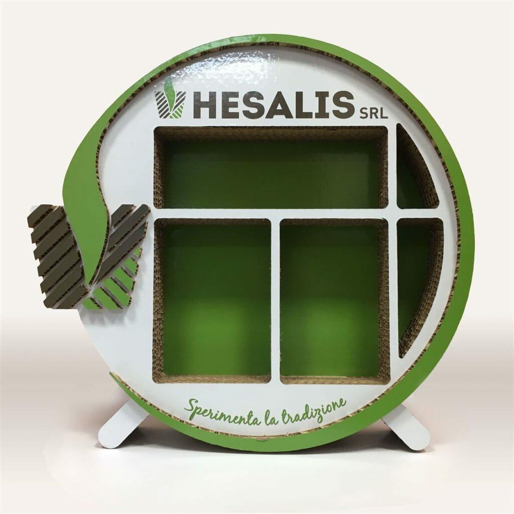 box da banco Hesalis in cartone alveolare