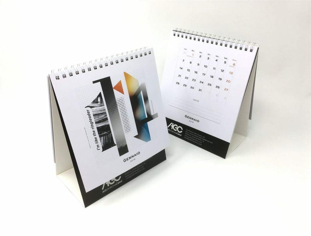 calendario da tavolo con spirale