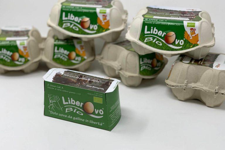 Packaging personalizzato per l'azienda biologica umbra Liberovo
