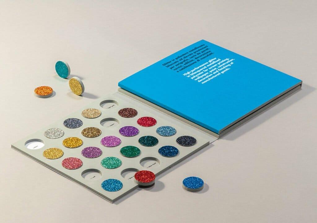 Campionario colori glitter