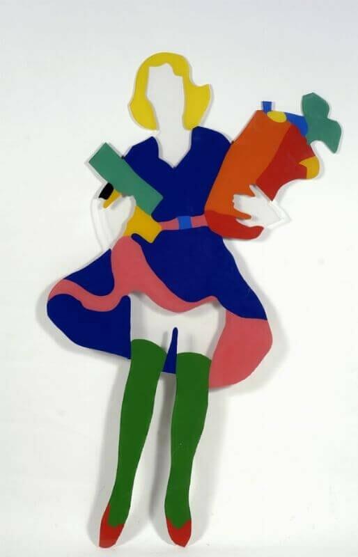 Marco Lodola, Pin Up - Smalto su Plexiglass