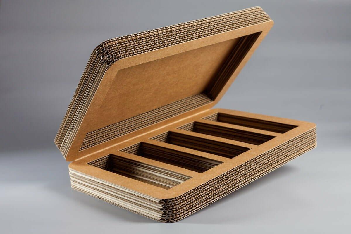 scatola in cartone ondulato