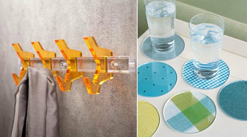 Esempi di oggetti in plexiglass