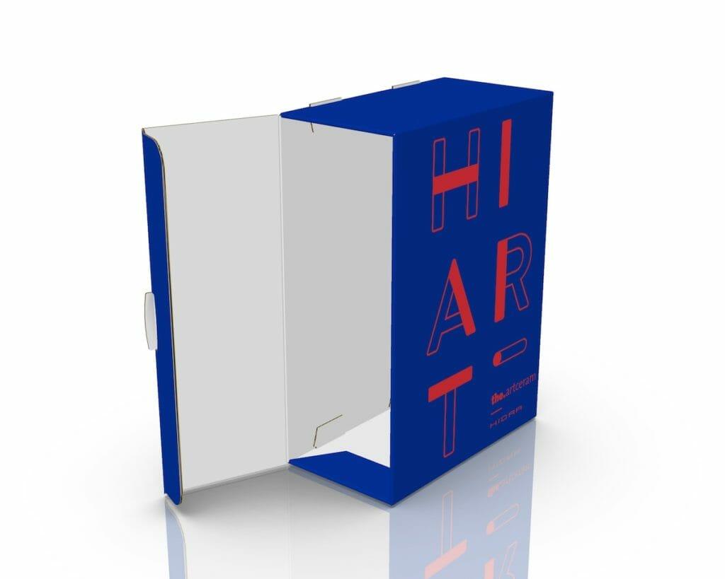 Il 3d del box raccoglitore per i cataloghi di Hidra Ceramica