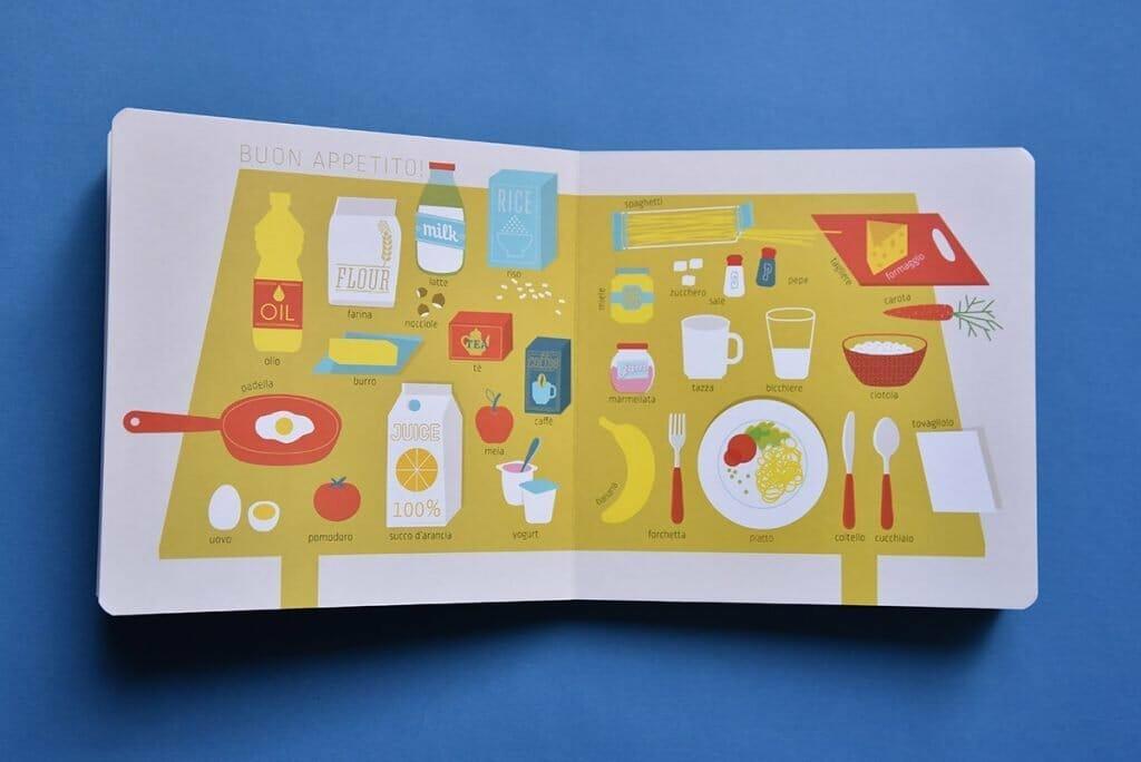 libro cartonato per bambini piccoli