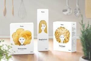 Packaging pasta particolare