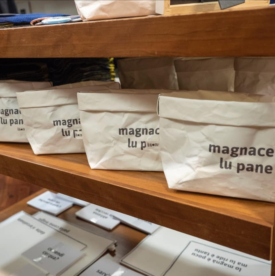 Sacchetti in carta lavabile con frasi