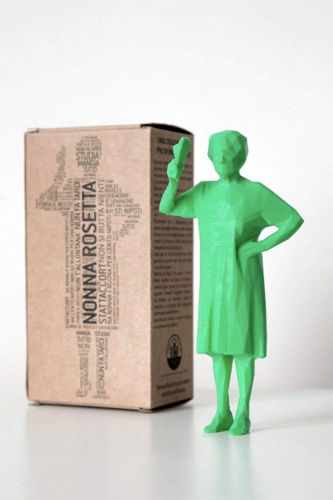 Packaging per action figures. La statuina di Nonna Rosetta di Casa Surace