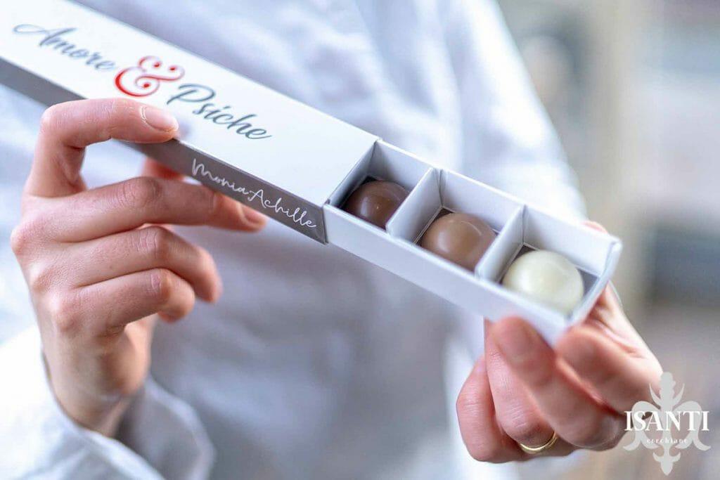 astuccio per cioccolatini